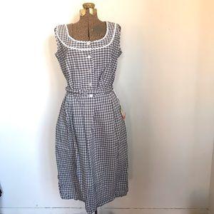 NWT VTG 50's Union Label Plaid Dress